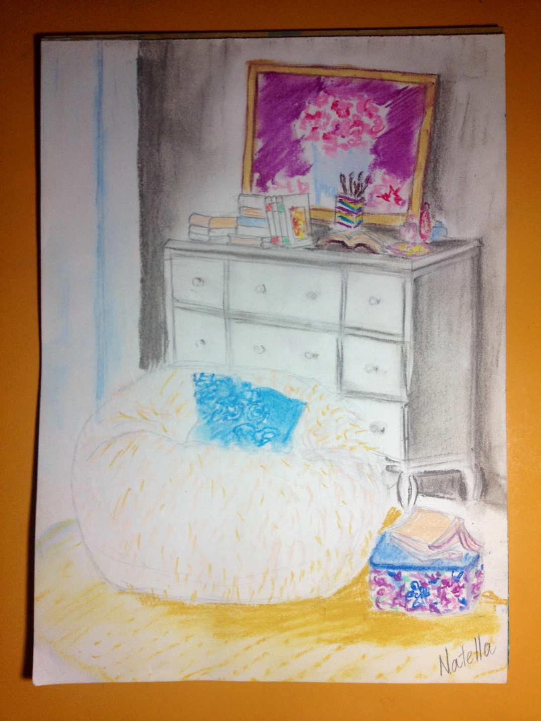 Drawing of the day - Reading corner