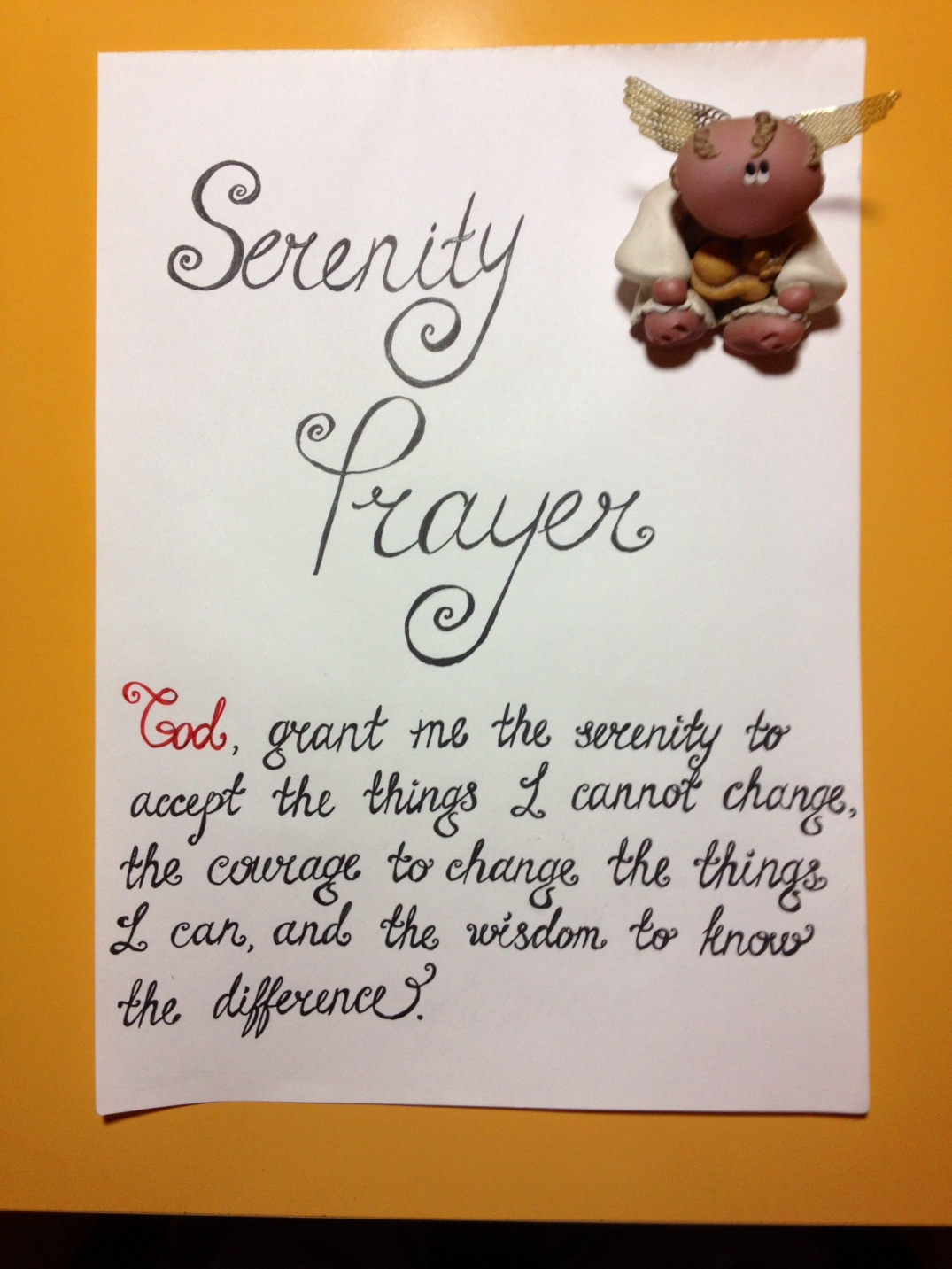 Serenity Prayer - One Happy Blog