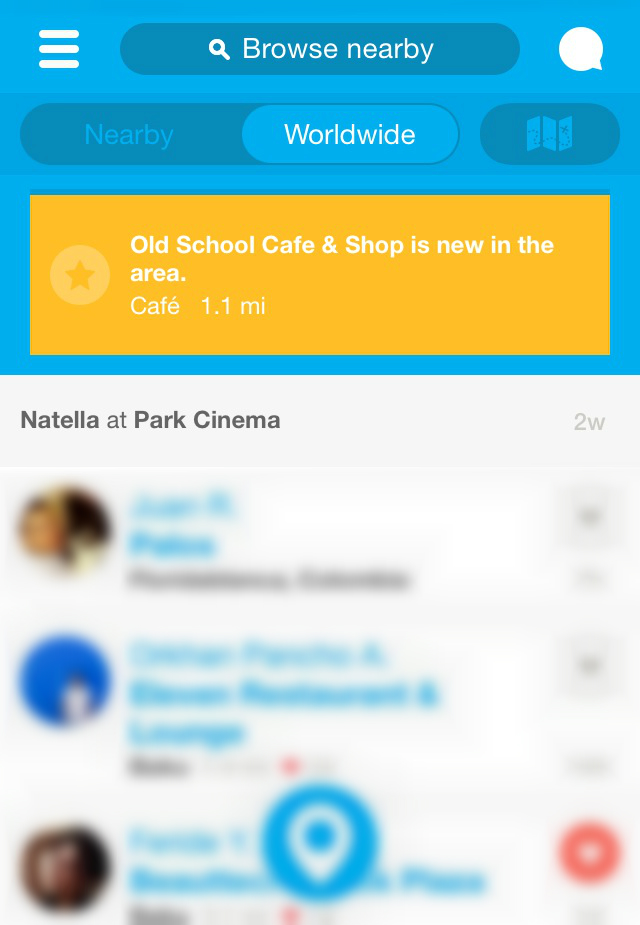 App of the day - Foursquare - by One Happy Blog - 1