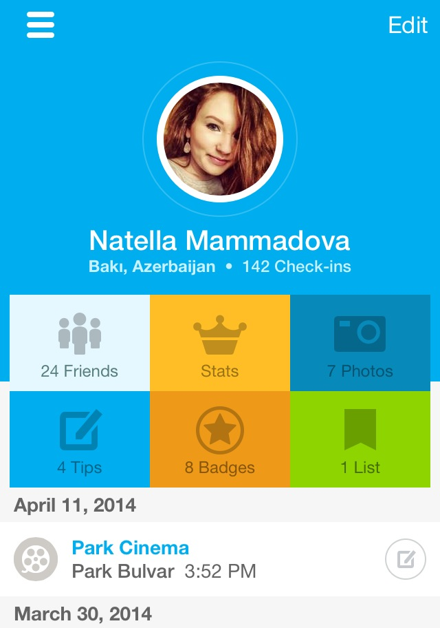App of the day - Foursquare - by One Happy Blog - 7