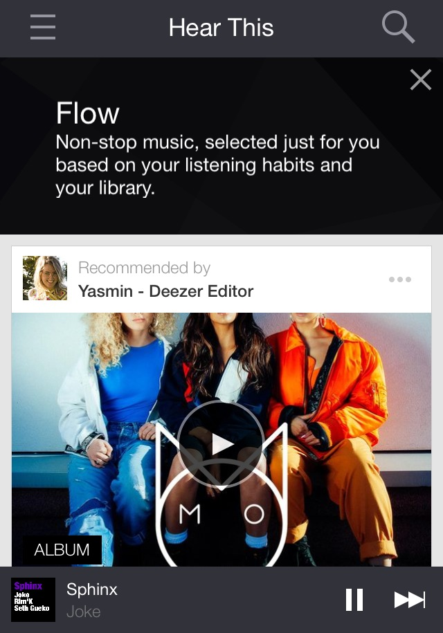 Deezer app by One Happy Blog - 1