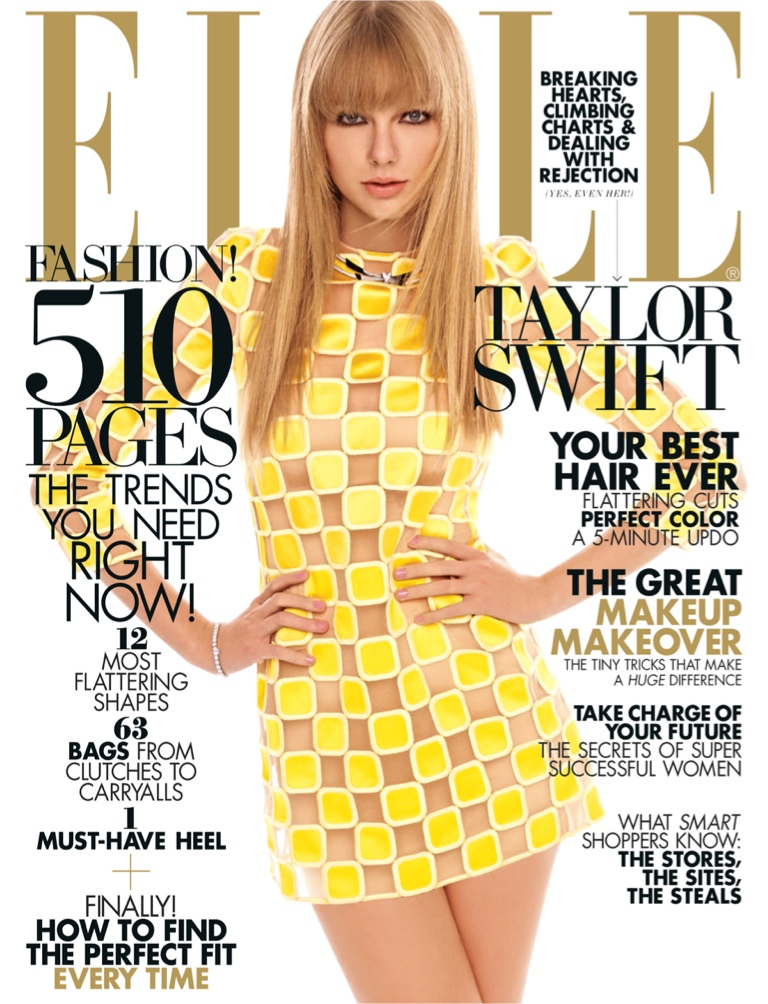 Elle March 2013 cover Taylor Swift - 1happyblog