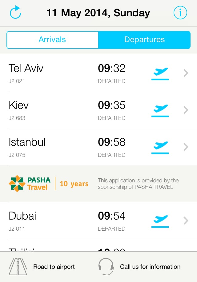 App of the day - Baku Airport by One Happy Blog - 2
