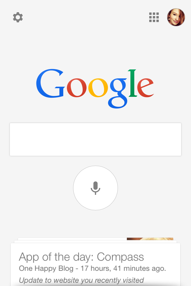 App of the day - Google by One Happy Blog - 1