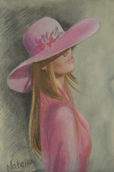 Lady in the hat Art Print Society6