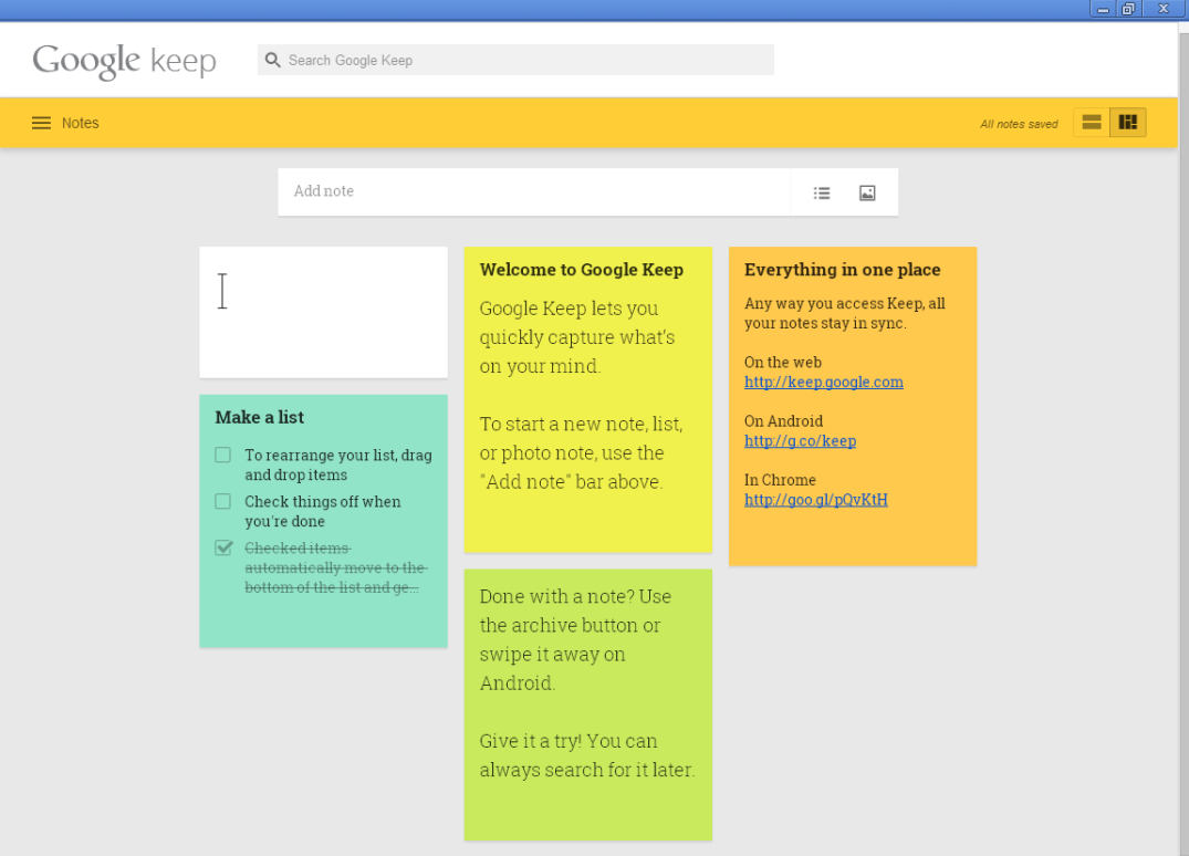 App of the day - Google Keep - by One Happy Blog - 1