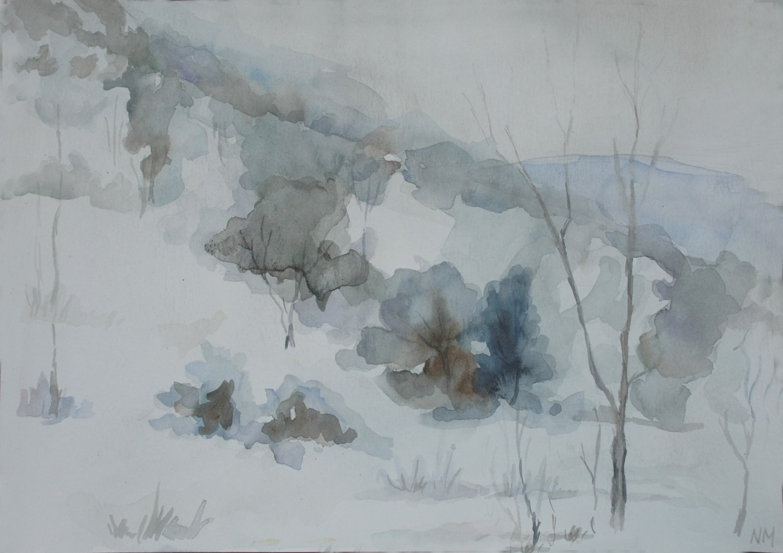 Winter Landscape by Natella Mammadova