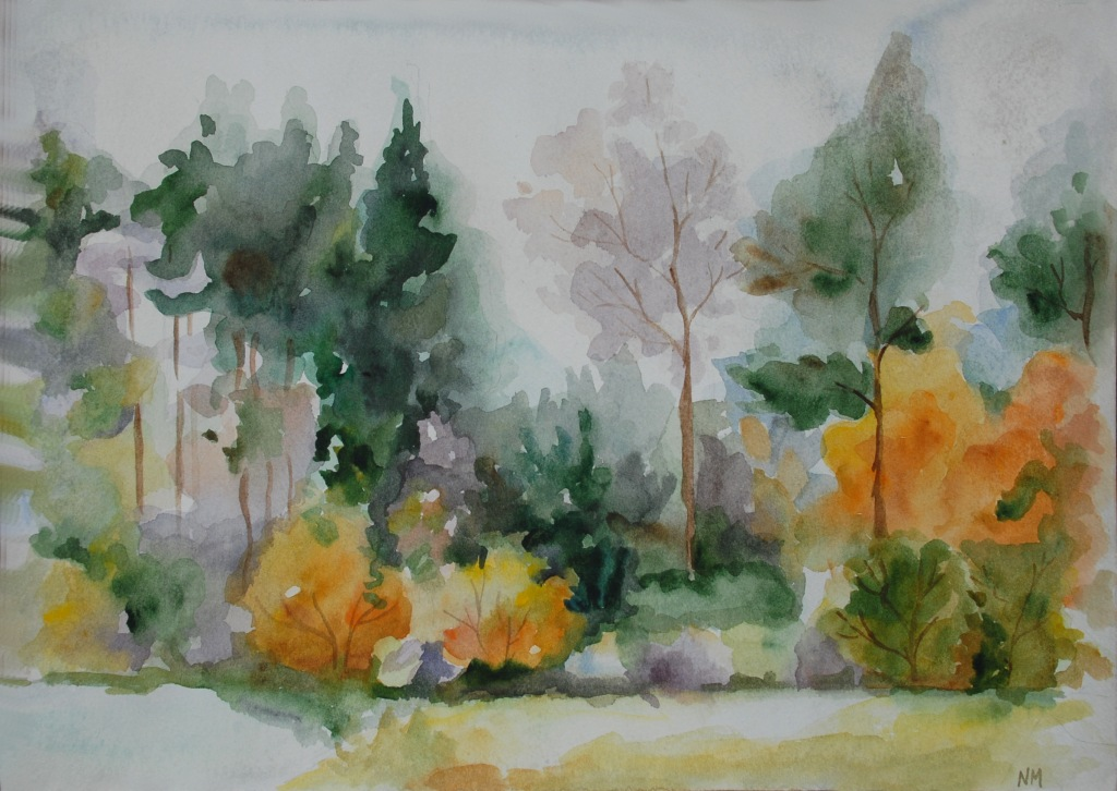 Autumn Landscape by Natella Mammadova